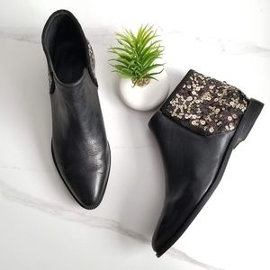 ANTHROPOLOGIE Ariana Bohling Black Leather Booties